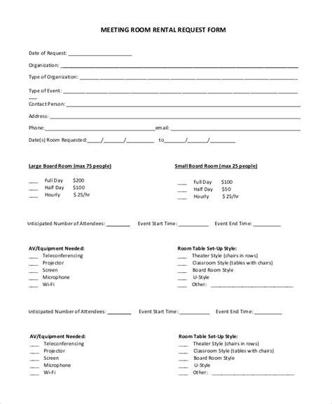 sample room rental agreement templates   ms