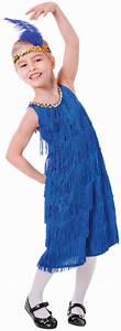 1920s Blue Flapper Girls Fancy Dress 20s Charleston Kids ...