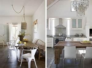 Deco salle a manger blanche meilleures images d for Idee deco cuisine avec table en bois brut