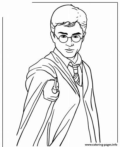 Potter Harry Coloring Wand Pages Magic Holding
