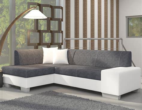 canapé d 39 angle blanc et gris moderne