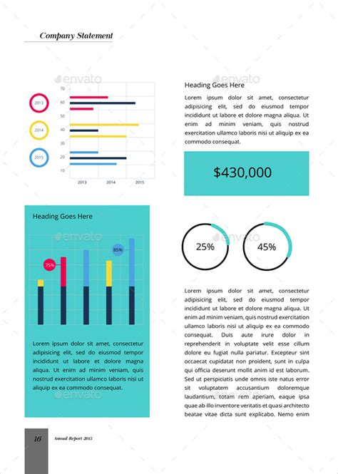 annual business report examples  word pages