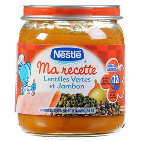 meilleur petit pot pour bebe ma recette petit pot pour bebe lentilles vertes et jambon des 12 mois 1 x 250g tous les