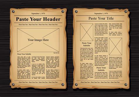 newspaper vector templates   vector art