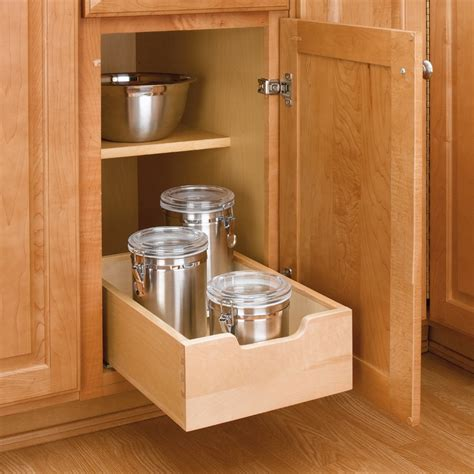 Kitchen Cupboard Pull Out Shelves by Wood Pullout Drawer 11 Quot Wide 4wdb 12 By Rev A Shelf