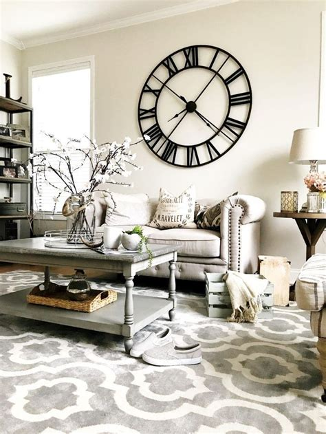 Living room wall decor and interior design is an evolution. 40 Unique Wall Decor Ideas With Clocks | Wall clocks living room, Rustic living room, Grey walls ...