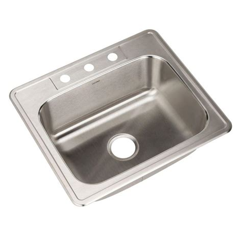 home depot kitchen sinks top mount houzer glowtone series drop in stainless steel 25 in 3 8405