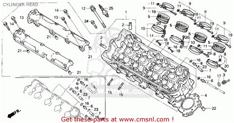 honda cbr600f2 supersport 1993 p usa cylinder schematic partsfiche