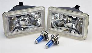 4x6 U0026quot  Halogen Semi Sealed H4 Halo Angel Eye Clear Headlight
