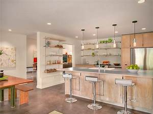 single wall open kitchen modern with light wood
