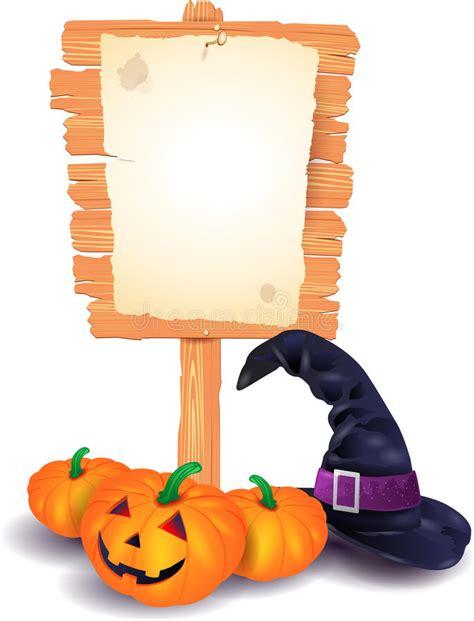 letrero de halloween ilustracion del vector ilustracion de halloween