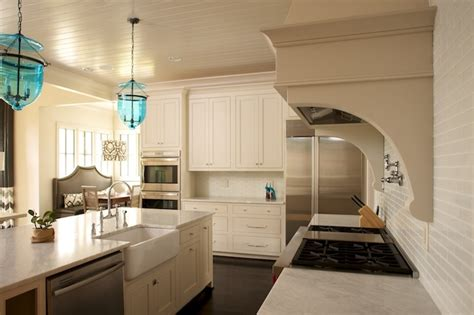 Kitchen Beadboard Ceiling - Transitional - kitchen - Twin