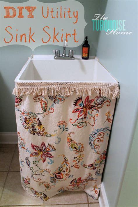 Burlap Utility Sink Skirt by The Scoop 84 Cedar Hill Farmhouse