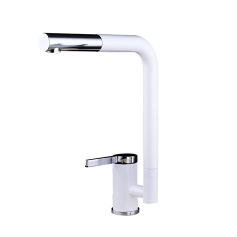 white kitchen faucet single handle painting square modern