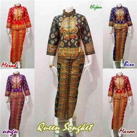 model baju batik seri queen motif kain batik songket