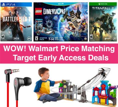 Wow! Walmart Price Matching Target Black Friday Early