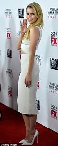 Emma Roberts steps out in revealing white dress for ...