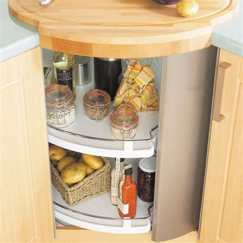carousel kitchen storage it kitchens stainless steel effect metal storage system 2000