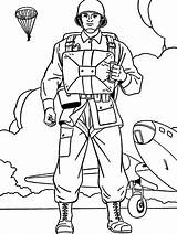 Coloring Pages Military Soldier Soldiers Drawing Ww2 Printable Army British Parachutist Colouring Boys Colorluna Colors Sheets Print Getcolorings Luna Man sketch template