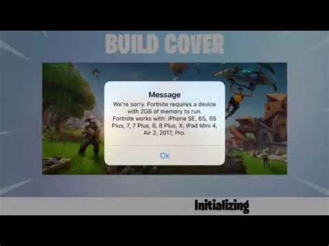 fortnite mobile error   space gb memory