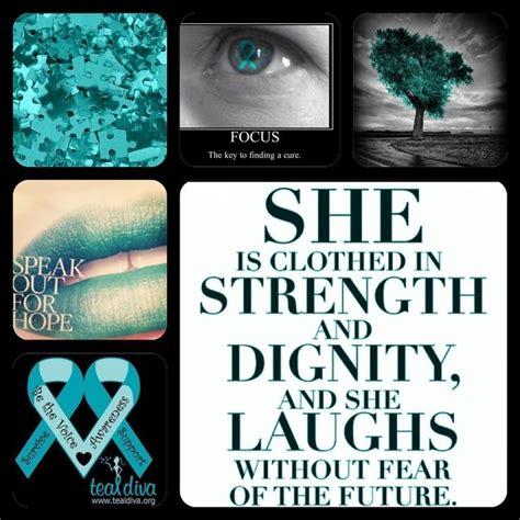 ovarian cancer poster quotes ovarian cancer awareness bust   teal cancer awareness