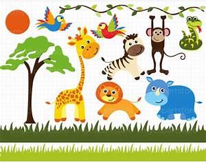 Baby Safari Animals - ClipArt Best