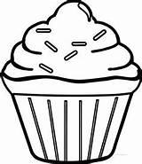 Cupcake Coloring Pages Simple Drawing Cool Boys Easy Printable Template Clipart Sprinkles Cupcakes Wecoloringpage Single Sheets Fun Visit Para Birthday sketch template