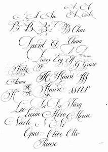 Nett kalligraphie alphabet vorlage zeitgenossisch for Kalligraphie vorlagen gratis