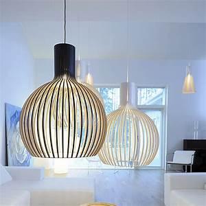 Suspension Luminaire Scandinave : suspension octo noir 54cm h68cm secto design luminaires nedgis ~ Teatrodelosmanantiales.com Idées de Décoration