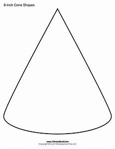 cone templates free printable cone shape pdfs With template to make a cone