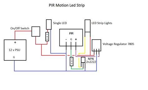 Transistors Led Strip Lights Controlled Pir Want