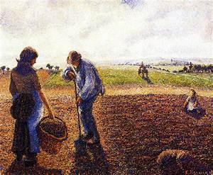 Eragny Art De Vivre : peasants in the field eragny camille pissarro wikiart ~ Dailycaller-alerts.com Idées de Décoration