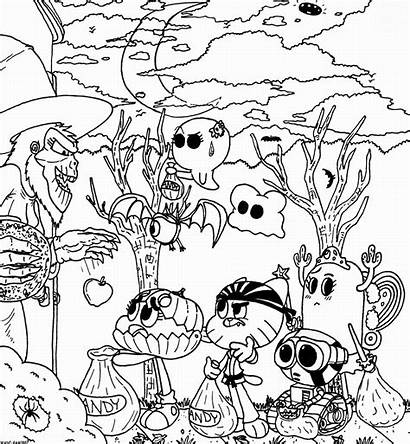 Gumball Coloring Amazing Pages Printable Pr Template