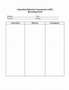 printable behavior observation forms With abc behaviour chart template