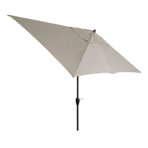 hton bay 10 ft x 6 ft aluminum patio umbrella in gray