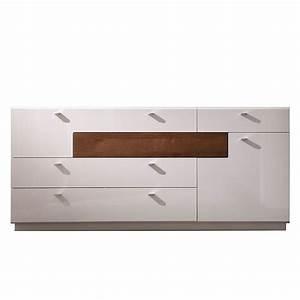 Sideboard Weiß Hochglanz 180 Cm : sideboard livia wei hochglanz eiche vintage ma e 180 x 79 x 44 cm ~ Indierocktalk.com Haus und Dekorationen