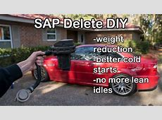 How to Delete the Secondary AirPump on any BMW E46 YouTube