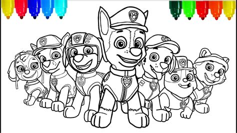 PAW PATROL # 2 Coloring Pages Colouring Pages for Kids