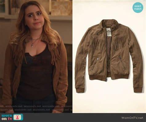 Annie's brown fringe bomber jacket on Good Girls | Cool ...