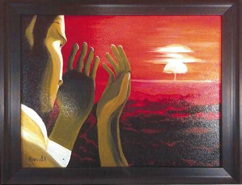 nazarbayev presents obama  painting  kazakh artist
