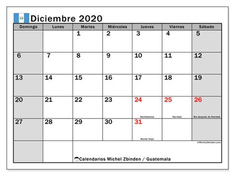calendario diciembre guatemala michel zbinden es