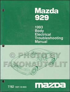 1993 Mazda 929 Repair Shop Manual Original