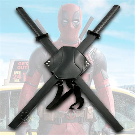 Ornamental Deadpool Swords And Back Harness