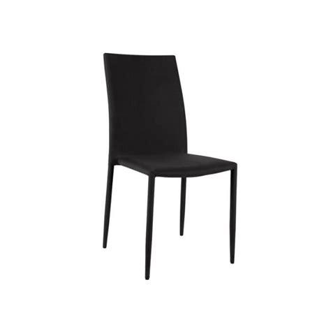 lot 6 chaises pas cher loola lot 6 chaises noires achat vente chaise salle a