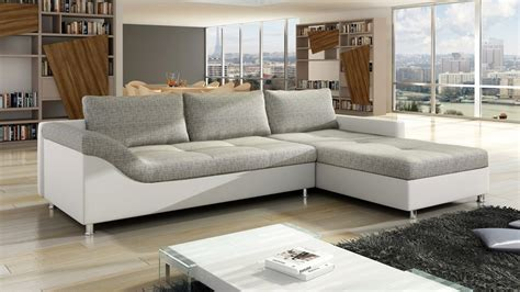 grey leather and fabric sofa white faux leather and grey fabric corner sofa homegenies