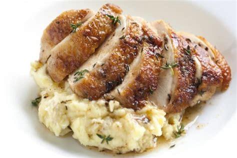 pan roasted chicken recipe  thyme recipe