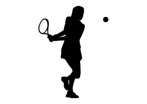 tennis player clipart black and white tennis black silhouette on white background