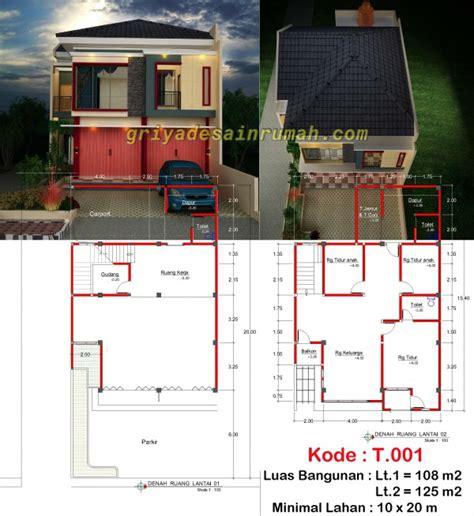 desain ruko minimalis 2 lantai di bogor jasa desain rumah