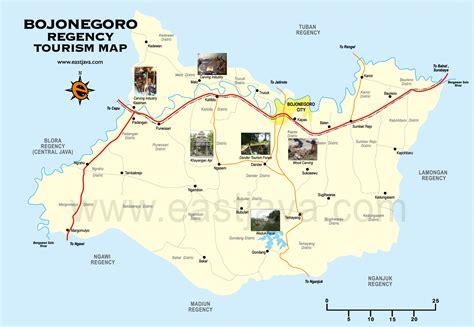 peta bojonegoro peta kabupaten bojonegoro peta wisata