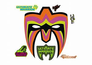 Ultimate Warrior Mask Wall Decal | Shop Fathead® for WWE Decor